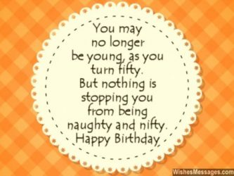 10+ Top 50th Birthday Quotes & Wishes