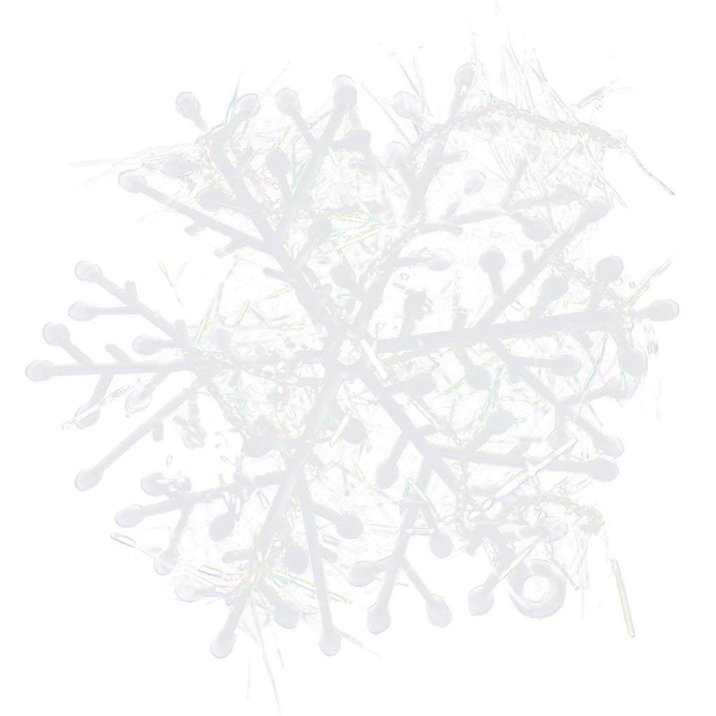 60pcs Christmas Decorations Supplies White Snow Snowflakes Hanging Ornaments ,60 Pieces,White