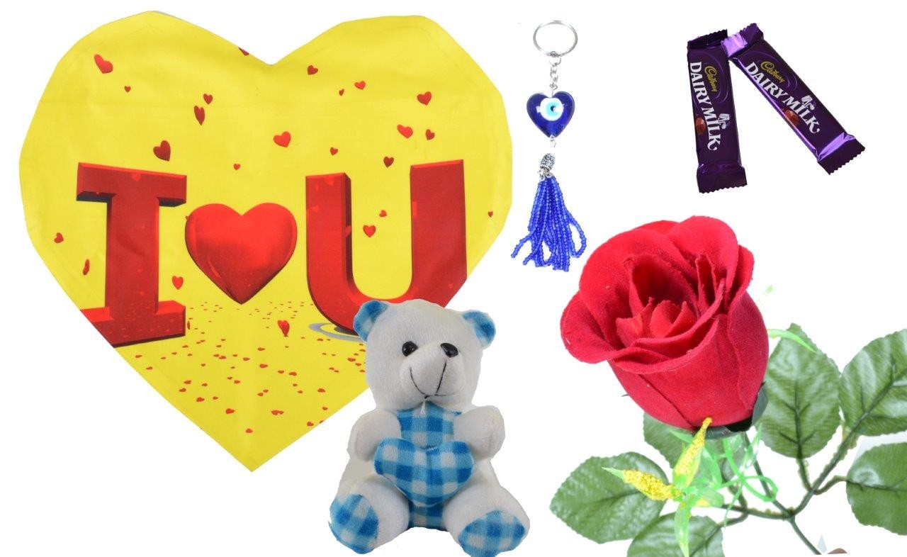 I Love You With Yellow Background Valentine Combo (Pack Of 6)