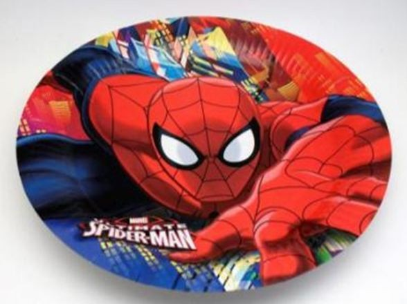 Spiderman Dinner Party Plates - Pack of 10