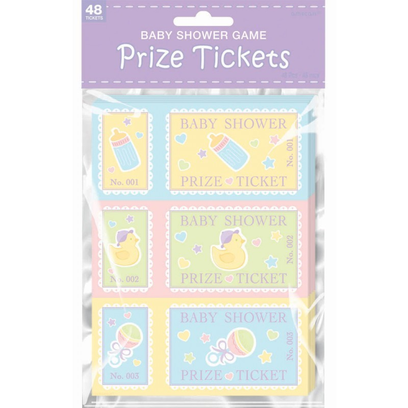 Prize Tickets Baby Shower Game (Pack Of 48)