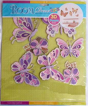 3D Pink Butterfly Wall Decor