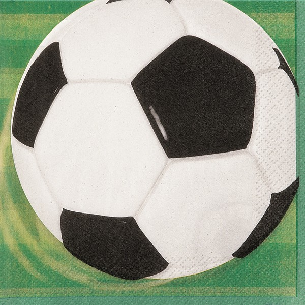 3D Soccer Premium 2 Ply Paper Napkins - Pack of 16