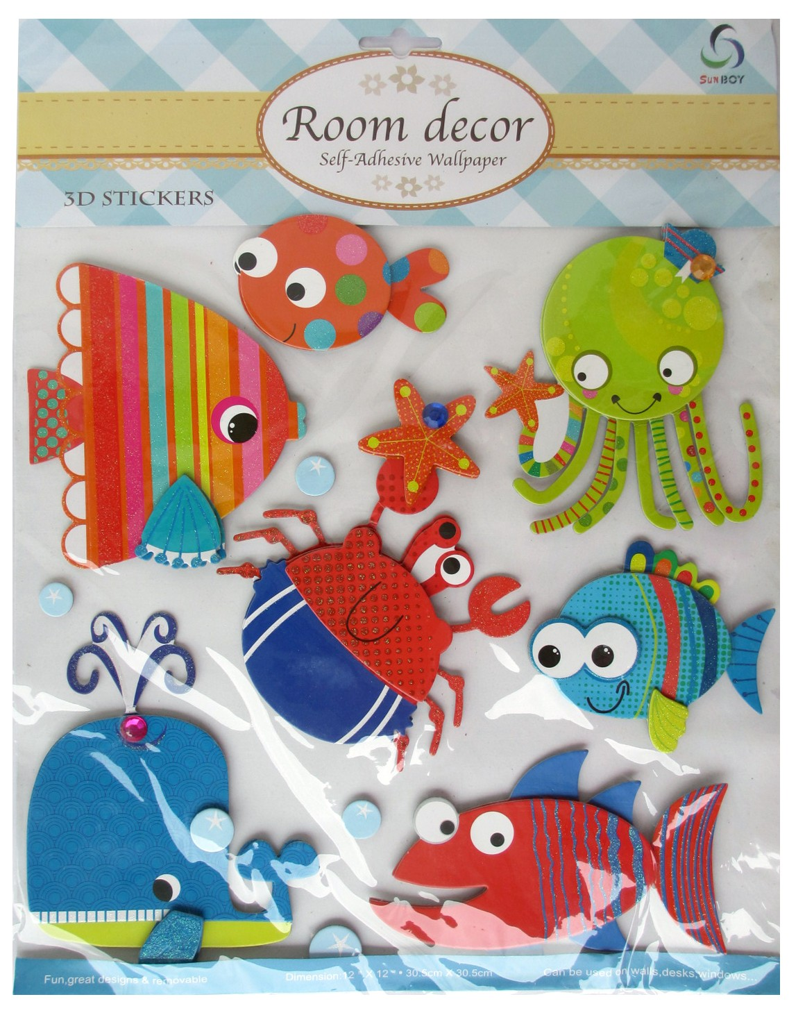 3D Underwater Theme Wall Decor