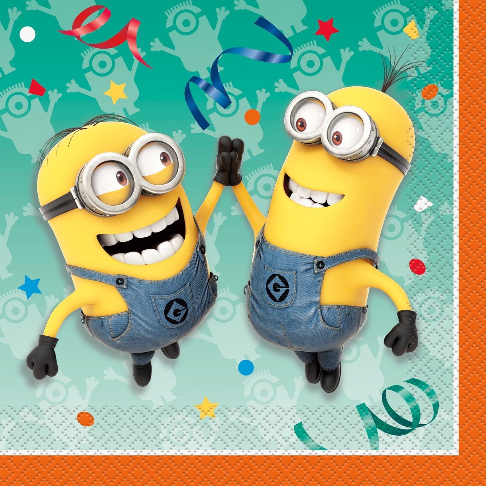 Minions Theme Napkins - Pack of 10