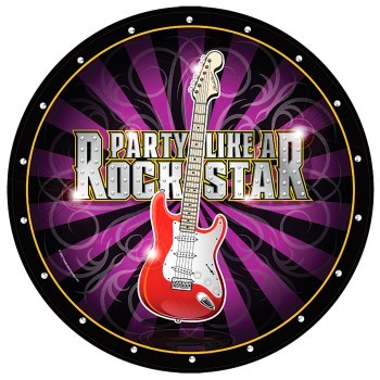 Rockstar Party Paper Plates (Pack Of 10)