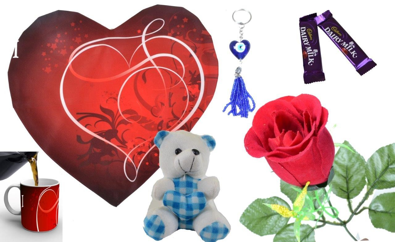 Red Valentine Combo (Pack Of 7)