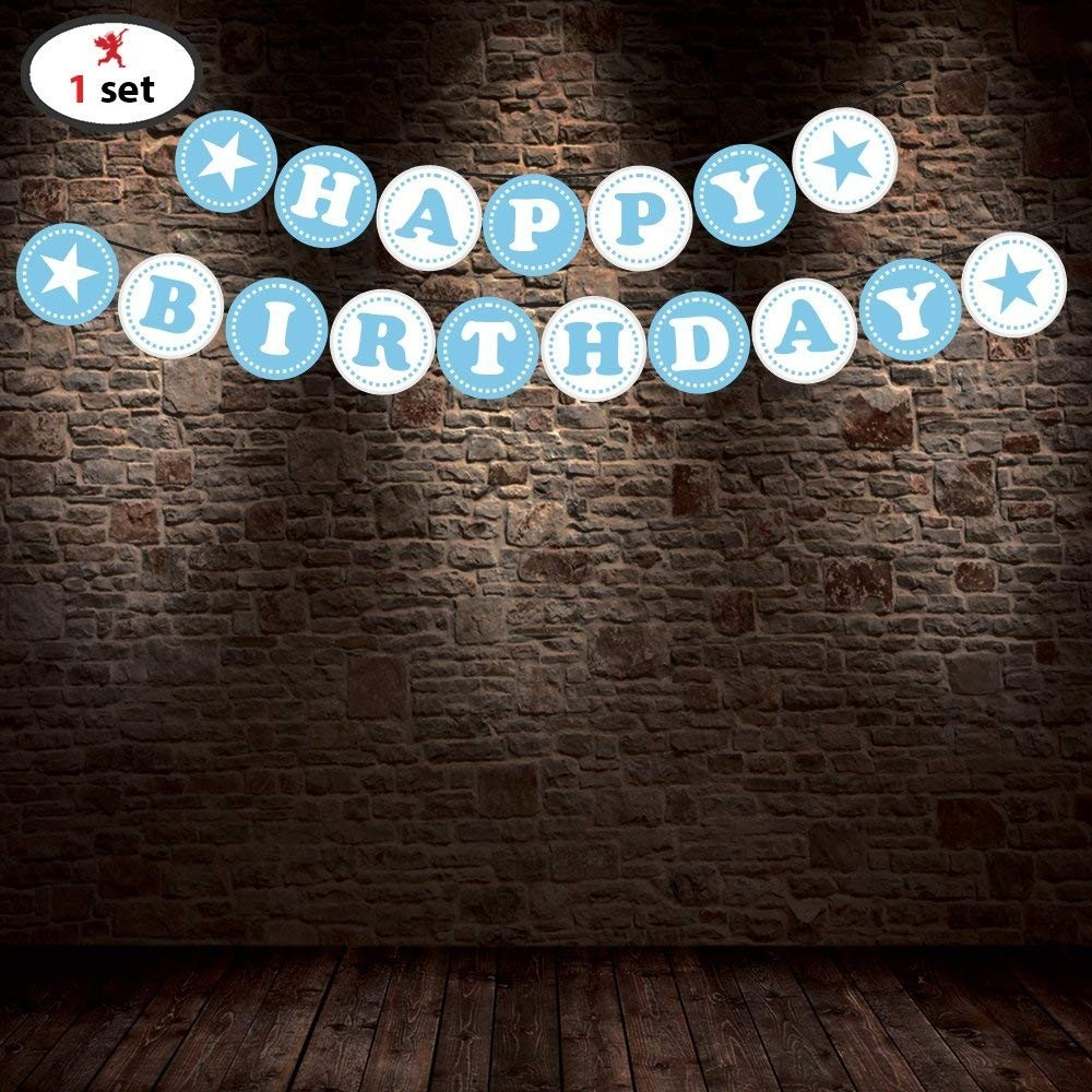 Happy Birthday Banner Decorations Items For Boys
