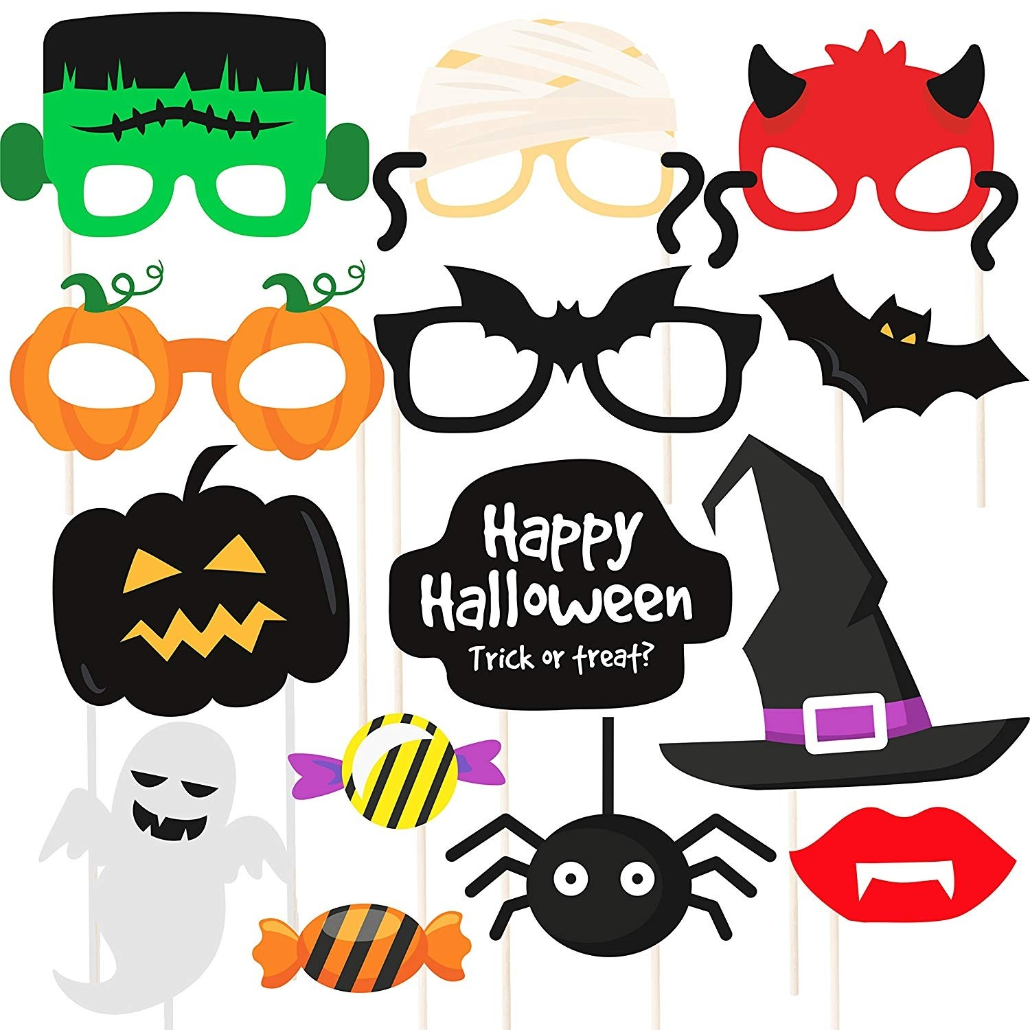 Halloween Party Photo Booth Props Diy Kit 14 Pieces Buy
