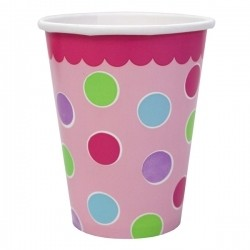 1st Birthday Cupcake Girl Party Paper Cups (Pack Of 18)