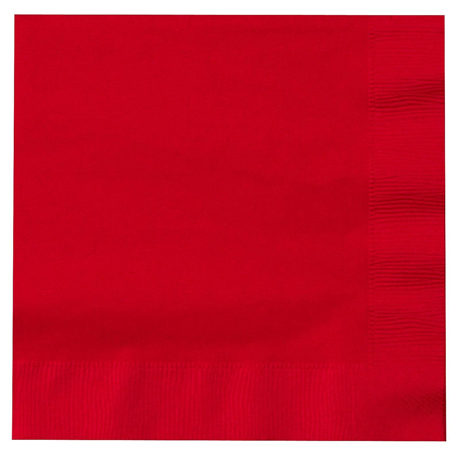 Solid Red Paper Napkins (Pack Of 20)