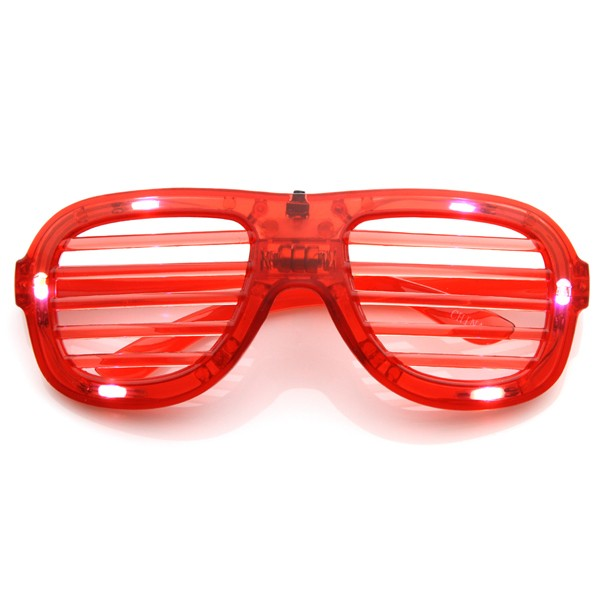 Flashing LED Shutter Shades Glasses (Red)