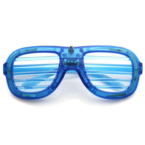 Flashing LED Shutter Shades Glasses (Blue)
