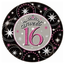 Sweet 16 Sparkle Prismatic Dinner Plates (Pack Of 8)