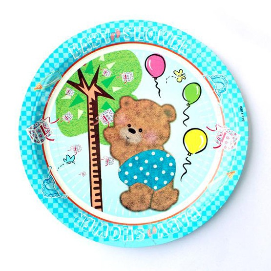 Baby Shower Party Paper Plates - Pack of 10 (Blue)