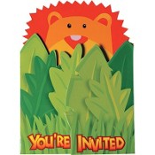Wild Kingdom Invitation Cards With Envelope (Pack Of 8)