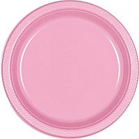 Solid Pink Dinner Plates ( Pack Of 20)