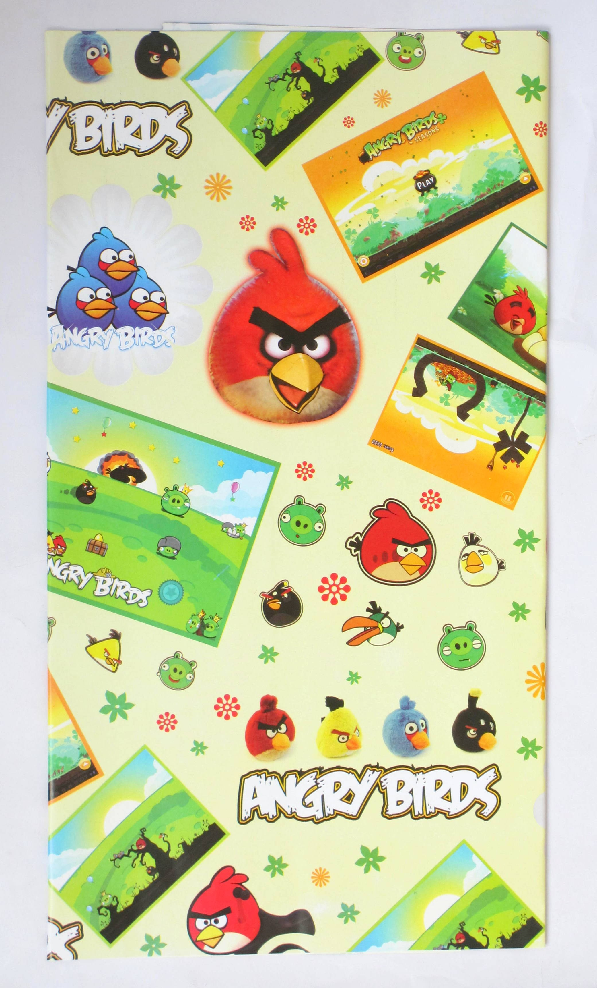 Angry Birds Wrapping Paper (Pack Of 10)