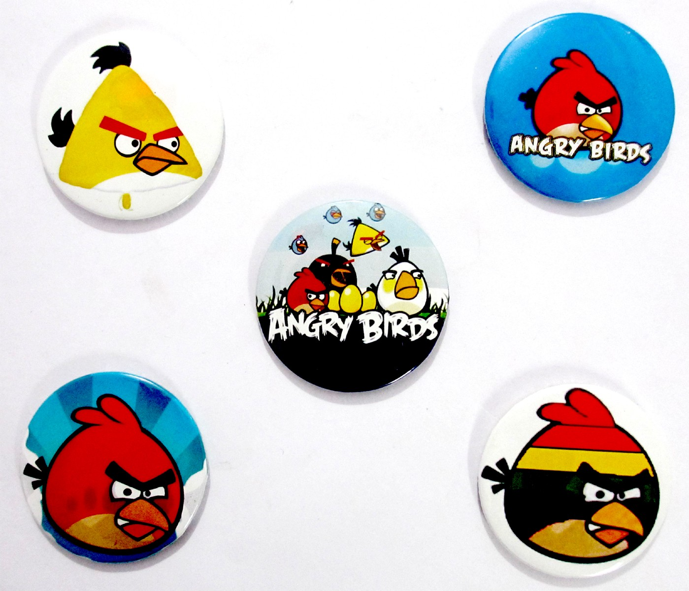 Angry Birds Pin Badges (Pack of 5)
