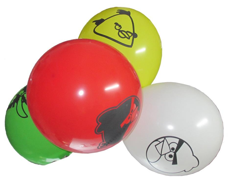 Angry Birds Assorted Latex Balloons - Pack Of 4