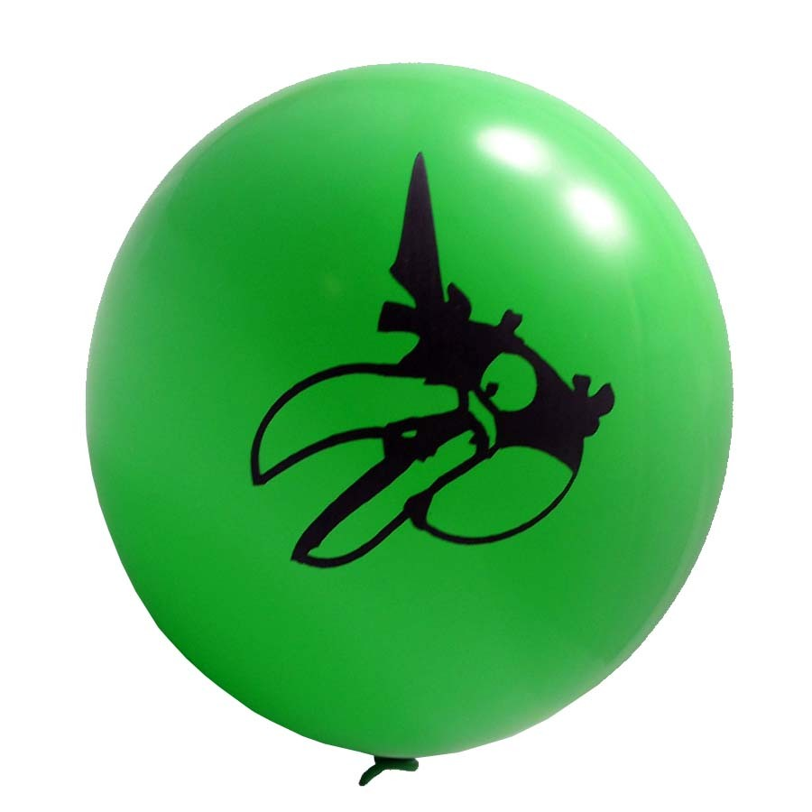 Angry Birds Printed Latex Balloons ( Green) - Pack Of 5