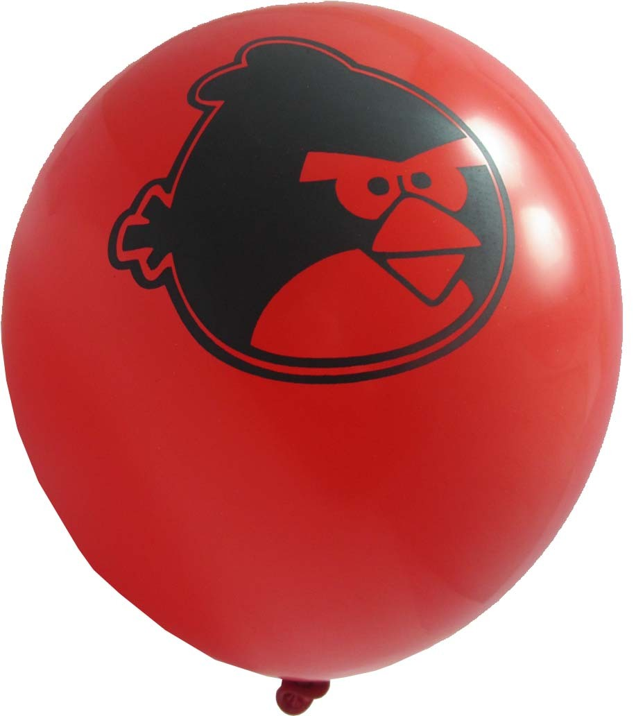 Angry Birds Printed Latex Balloons ( Red) - Pack Of 5