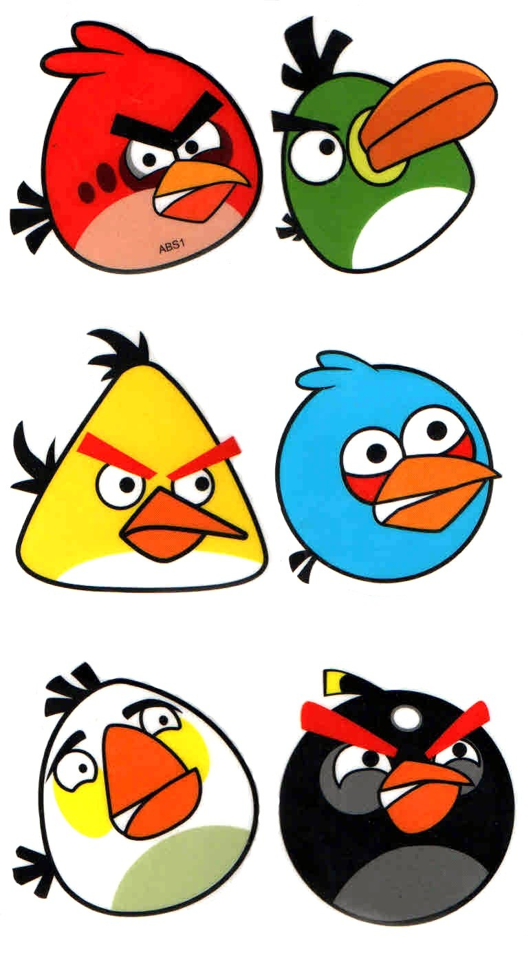 Angry Birds Multiple Birds Magnets (Pack of 6)