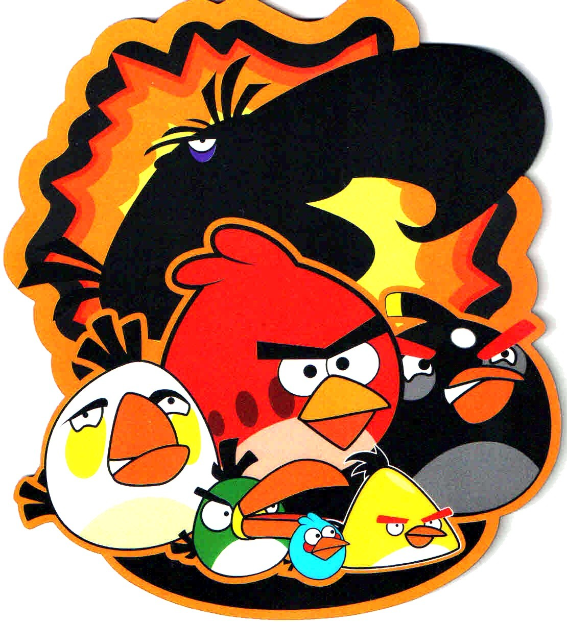 Angry Birds Multiple Birds Mouse Pad