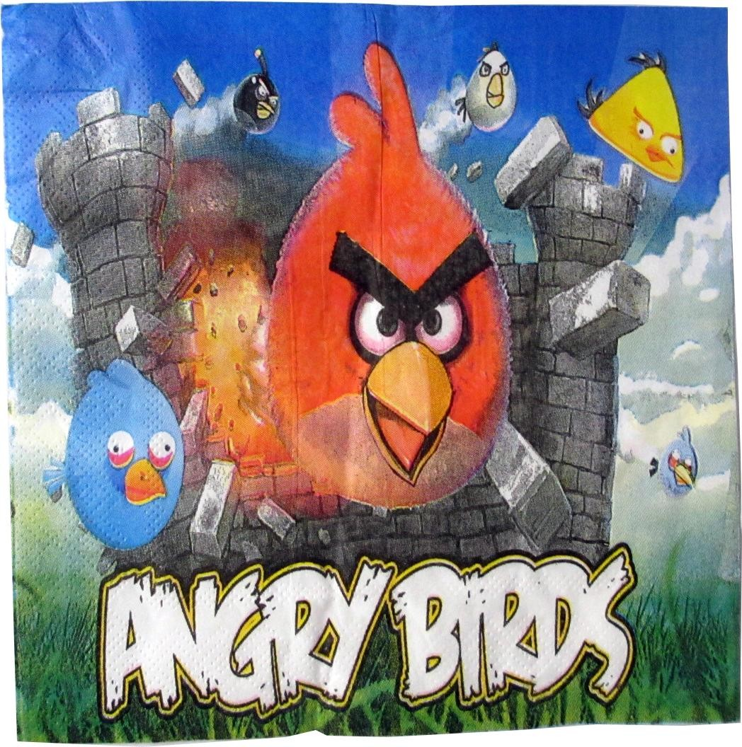 Angry Birds Paper Napkins (Pack Of 10)
