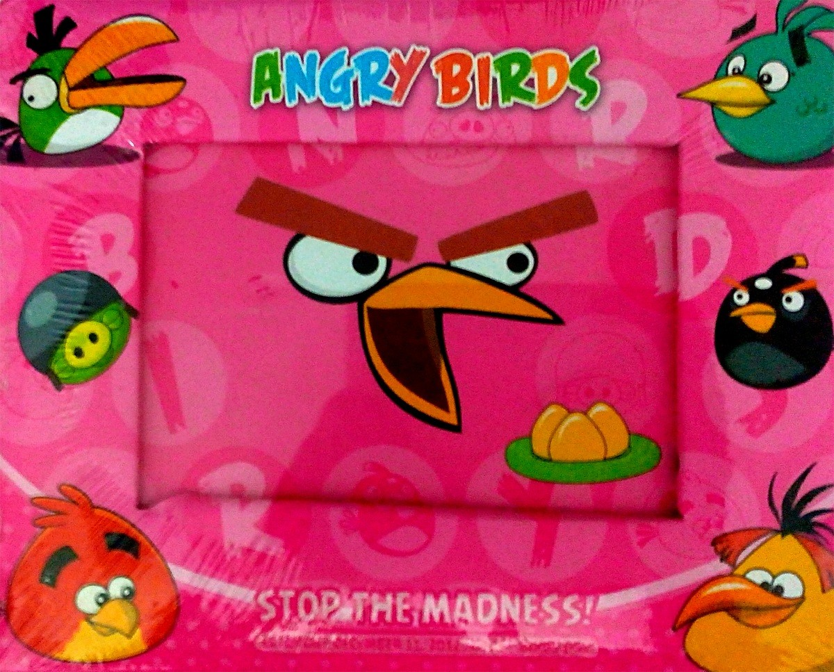 Angry Birds Photo Frame - Pink