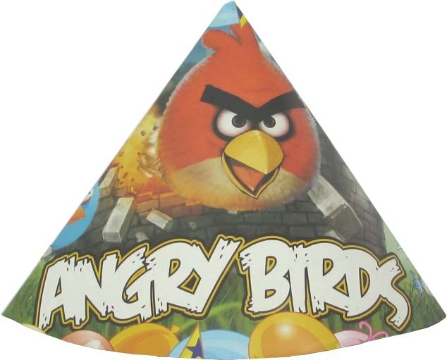 Angry Birds Party Hats - (Pack Of 10)