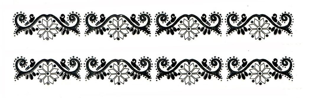 Arm Band Water Transfer Temporary Tattoos Set - 4