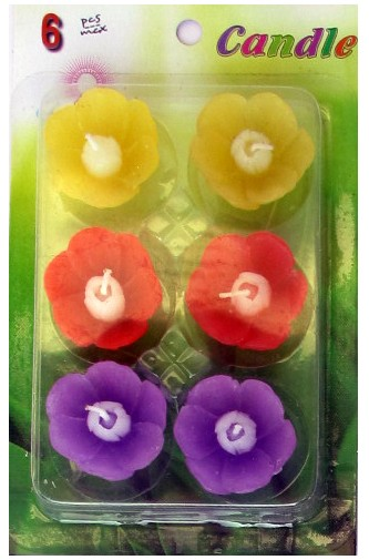 Assorted Floating Candles Design - 10 (Pack of 6)