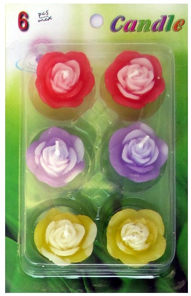 Assorted Floating Candles Design - 5 (Pack of 6)
