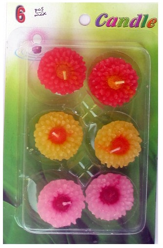 Assorted Floating Candles Design - 8 (Pack of 6)