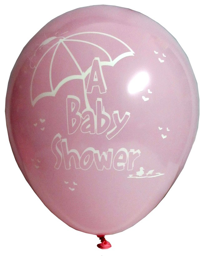 Baby Shower Party Latex Balloons - Pink (Pack Of 5)
