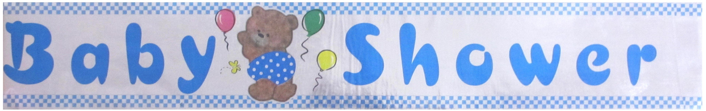 Baby Shower Party Banner - Blue