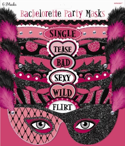 Girls Night Out Party Masks (Pack Of 5)
