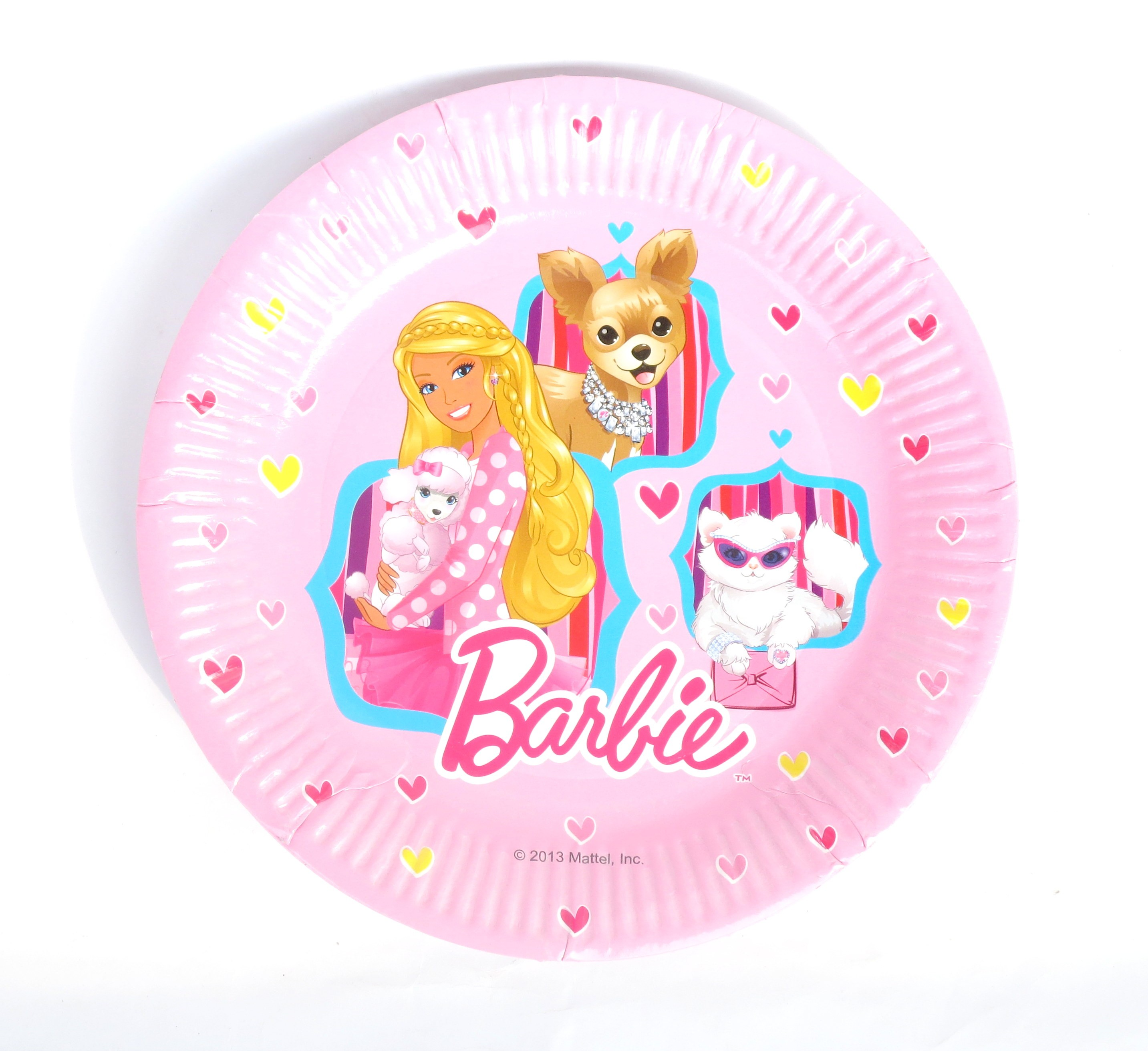 """Barbie Paper Plates - 9"""" Pink (Pack Of 8)"""