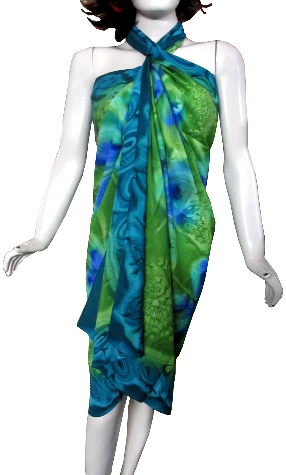 Beautiful Green And Blue Printed Pareo