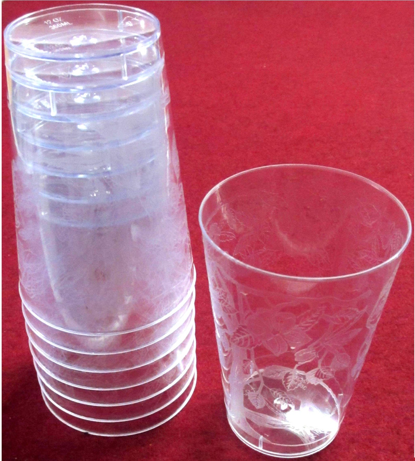 Disposable Beer Drinking Glasses - Hard Plastic (Pack Of 8)
