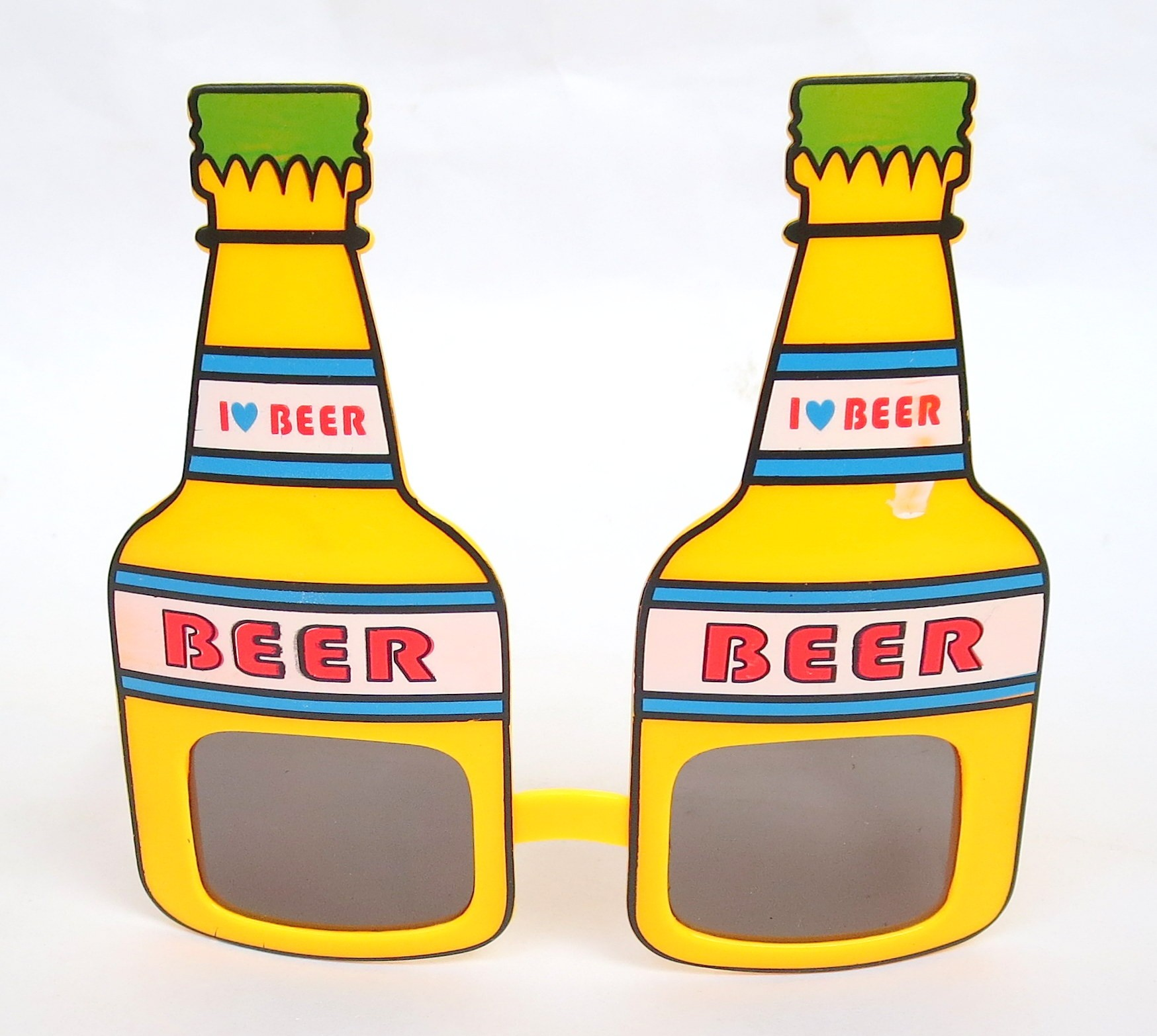 Beer Bottle Shaped Party Shades (Yellow)
