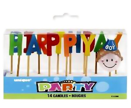 Birthday Boy Toothpick Candle