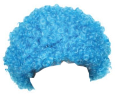Blue Frizzy Afro Wig