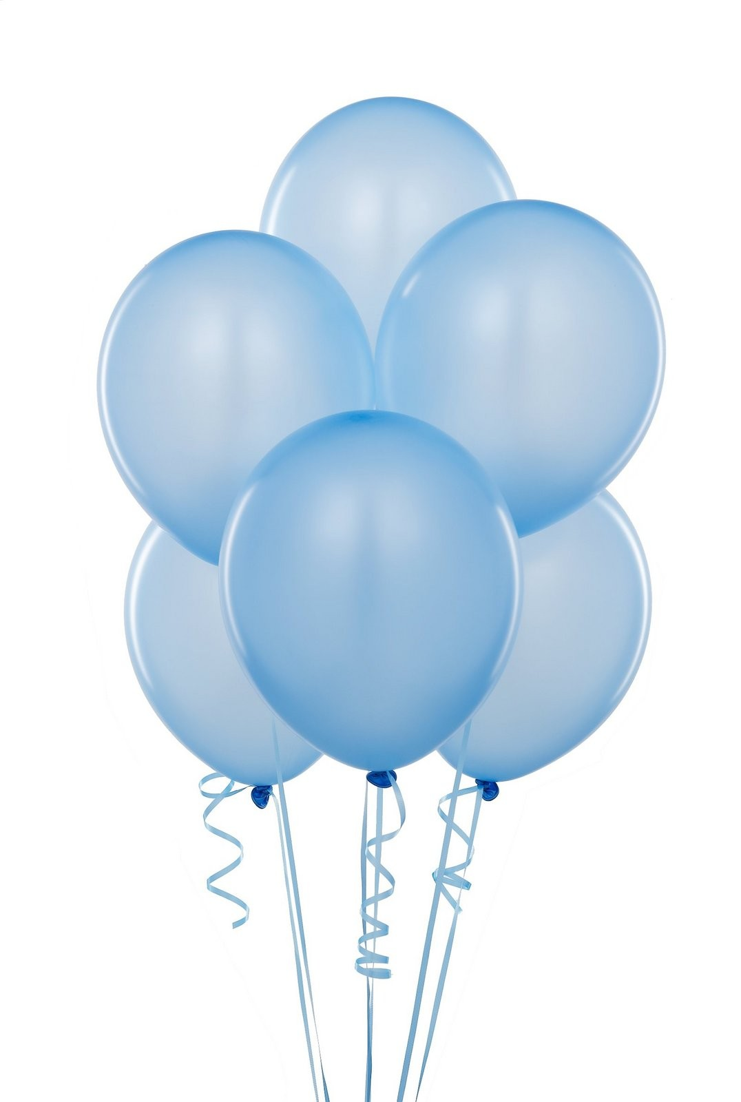 Baby Blue Latex Balloons (Pack Of 10) - 12""