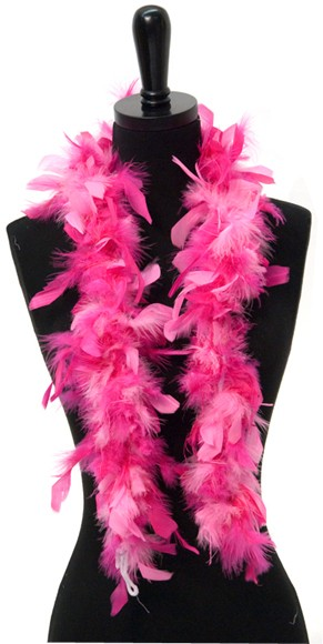 """Candy Pink And Hot Pink Mix Princess Feather Boa (42"""")"""