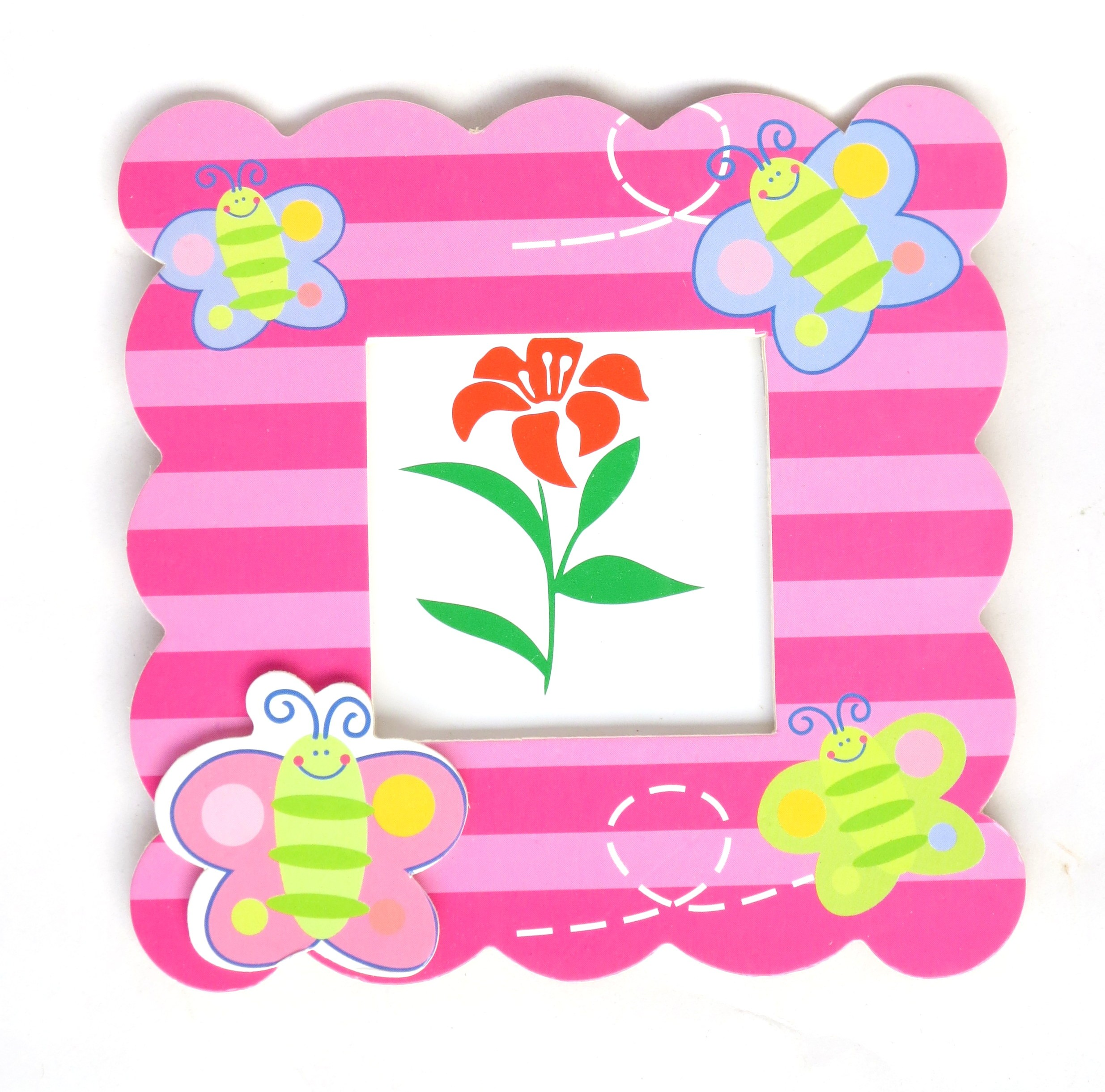 Butterfly Print Pink Kids Photo Frame