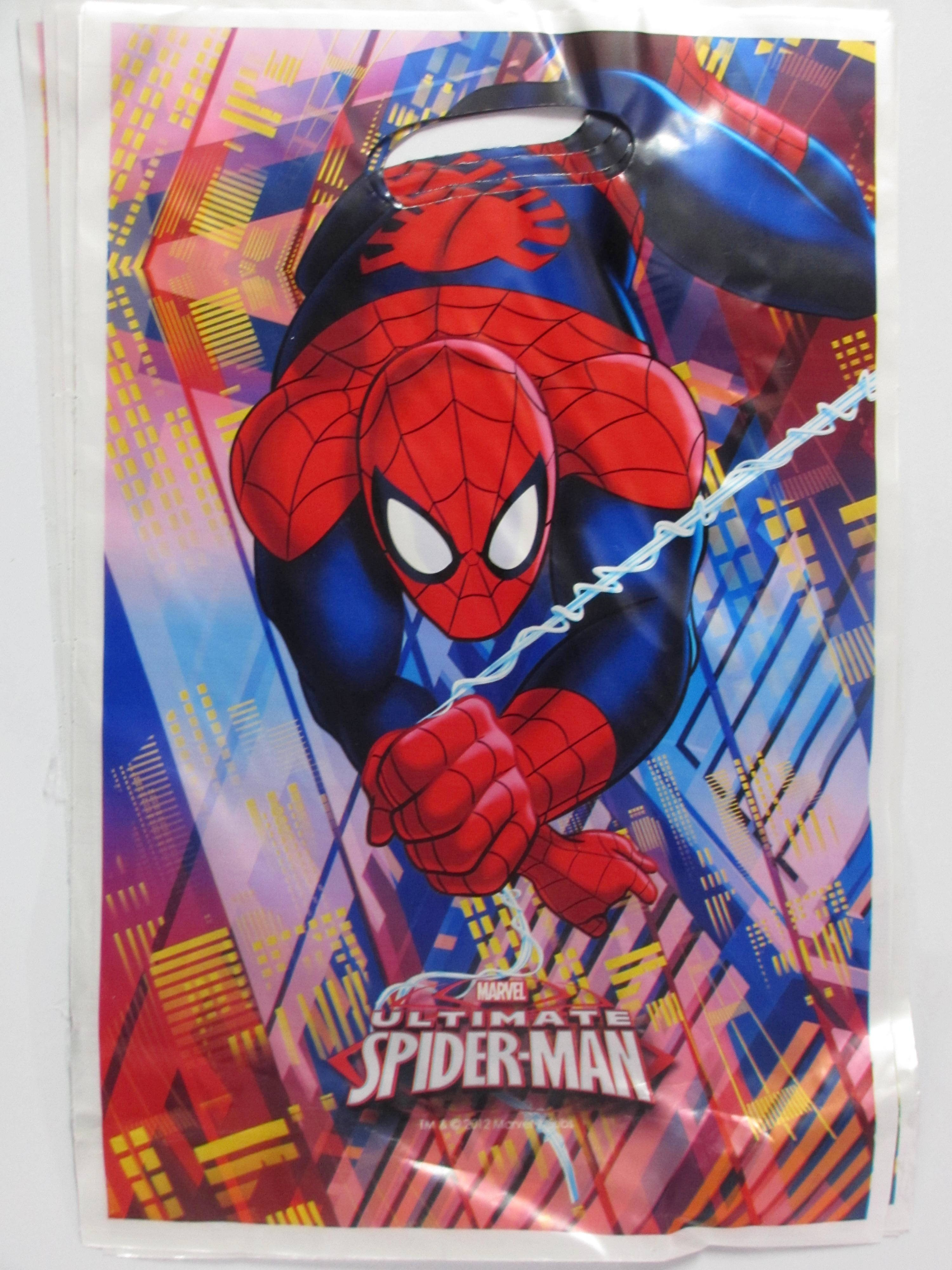 PACK OF 10 SPIDERMAN PARTY BAGS