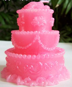 Birthday Cake Candle (Pink)
