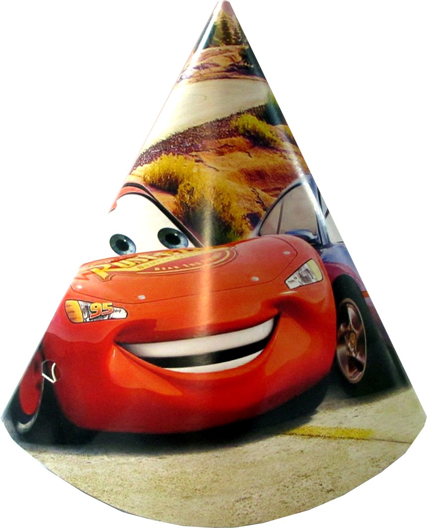 Cars Cone Hats (Pack of 10)